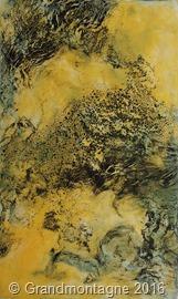 Bild Swarms, 150 x 90 cm Enkaustik und Tusche auf Leinwand - Foto: Magdalena Grandmontagne