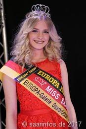 Die strahlende Miss Saarland 2017 Michelle Appel (17) aus Wadgassen