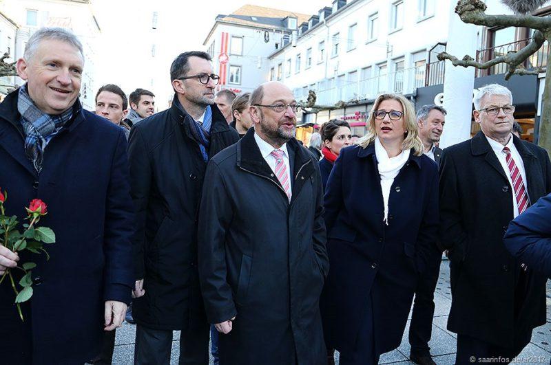 Kanzlerkandidat Martin Schulz machte in saarlouzis Straßenwahlkampf