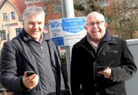 Arno Minn, Geschäftsführer der Stadtwerke Dillingen und Bürgermeister Franz-Josef Berg