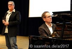 Horst Friedrich (l.) und Thomas Bernardy begleiteten den Empfang musikalisch 3912