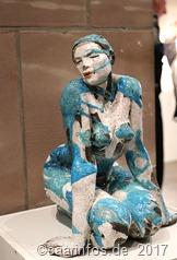 Elisabeth Cibot die weltbekannte Skulpturistin stellte auf Vaubaninsel in Saarlouis aus