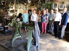 Das feinmechanische Museum - Unser Foto zeigt einen Teil der besonders engagierten Aktteure im Team der Fellenbergmühle