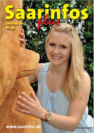 Saarinfos Plus Ausgabe Juni/Juli 2017 Onlineausgabe Titelseite - hier online lesen