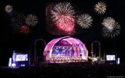 Ein fulminantes Höhenfeuerwerk folgte dem musikalischen Feuerwerk