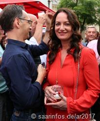 Schauspielerin Nthalie Wörner  weilte zusammen mit Heiko Maas in Saarlouis