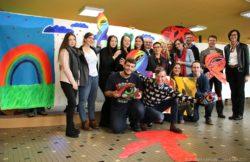 Kreative Aktion zum Welt Aidstag
