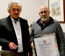Klaus Mohr wurde geehrt
