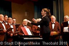 Die 18jährige Lena Herber feierte eine gelungene Premiere als Dirigentin des Männerchores Concordia Pachten