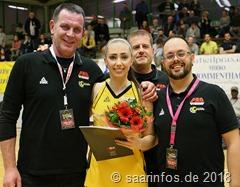 """Nach acht Jahren verlässt Lebke Brodersen ihre """"Basketballheimat"""" Saarlouis. Sie wird innerhalb ihres Studiums ein Auslandsemester in England verbringen"""