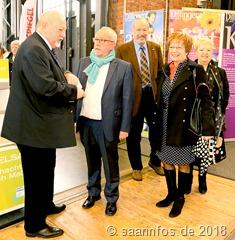 Gesundheitsmesse SaarVital Unser Foto zeigt (v.l.n.r.) Helmut Gebauer, Franz Josef Berg, Günter Mittermüller, Helga Maleska und Yolande Przybyl