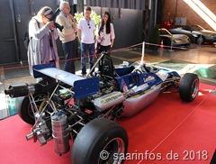 Viel Interesse fand auch ein Formel e Lotus Lenham, der von seinem Besitzer erfolgreich bei historischen Rennsportereignissen gesteuert wird.