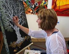 Dillinger Kunsthandwerkermarkt - manche künstler demonstrierten ihre Kunstfertigkeit vor Ort
