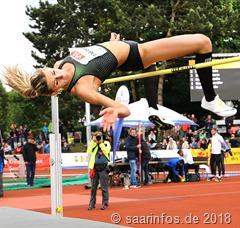 Bei den Hochspringerinnen schaffte Marie Laurence Jungfleisch die Norm von 1,90Meter und belegte den zweiten Platz hinter Kateryna Tabashnyk aus der Ukraine