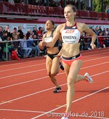 Über 800 Meter der Frauen siegte Renée Eykens vor Vorjahressiegerin Renelle Lamote