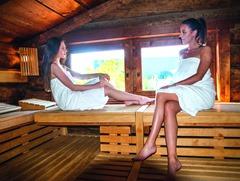 Die Sauna ist hochmodern ausgestattet und erfüllt viele Wünsche