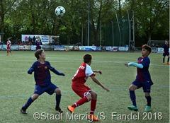 Im Endspiel standen sich der FC Barcelona (Blaues Trikot) und Mainz 05 gegenüber. Barcelona siegte knapp mit 1:0