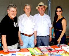 Sommerfest der Inklusion: An vielen Ständen fand man Informationsmaterial vor