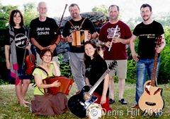 """""""Les Quetschekaschde"""" spielt zum wiederholten Mal beim Picknick auf der Insel. Foto: Denis Hilt"""