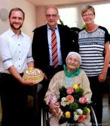 Ilse Demmler feierte ihren 103. Geburtstag im Seniorenpalais Saarpark Dillingen