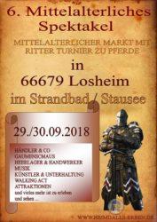 6. Mittelalterliche Spektakel in Losheim am See