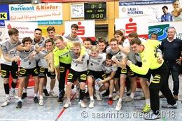 Die Freude war groß nach dem Sieg, unser Foto ´zeigt die Deutsche U 19 Nationalmannschaft nach ihrem Sieg