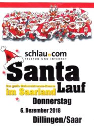 Das große Weihnachtsrennen im Saarland, der Santalauf