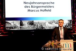 Die Neujahrsansprache von Bürgermeister Marcus Hoffeld enthielt zahlreiche positive Aspekte
