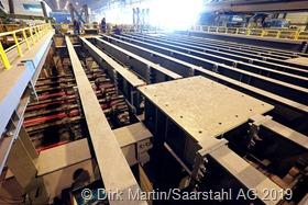 Neue Stranggießanlage S1 bei Saarstahl