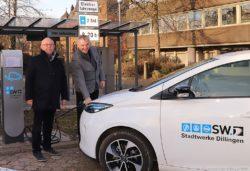Ladestation für Elektroautos mit neuester Technik ausgetauscht.