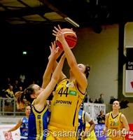 Mannschaftskapitän Kimberly Pohlmann wollte nicht mehr absteigen. sie erzielte in diesem Spiel 13 Punkte 3889