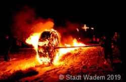 Brennendes Erbsenrad