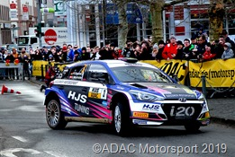 Den dritten Platz belegten Hermann Gassner jr. / Ursula Mayrhofer (Surheim / Österreich) im Hyundai i20 R5.