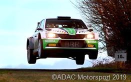 Fabian Kreim/Tobias Braun gewannen im Skoda Fabia R 5 die Saarland-Pfalz Rallye 2019