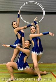 Im Gruppenwettkampf errangen Jodie Benzmüller, Daniela Frischbuter und Laura Pillitteri die Silbermedaille