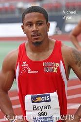 Michael Bryan (LC Rehlingen) stellte in Waco (Texas) in 10,34 Sek. einen neuen Saarland Rekord über 100 Meter auf. Foto Lutwin Jungmann
