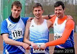 Bei den Männern siegten Matthias Merk, Florian Lauck und Daniel Rhodes über 3 x1000 Meter Foto Lutwin Jungmann