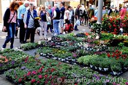 Der Merziger Blumenmarkt 2019 findet am 04. Mai statt