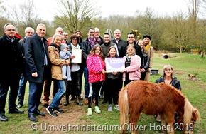 Reinhold Jost überreichte Förderbescheid über 60 000 € an Kinder- und Jugendfarm Saarlouis