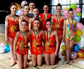 Die Gymnastinnen vom TV Rehlingen präsentierten sich souverän beim Saarland-Cup und den Landesmeisterschaften in Saarbrücken.