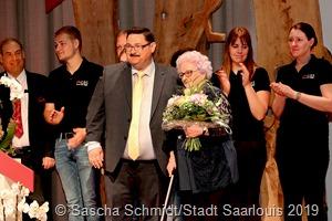 Seit 55 Jahren wohnt Irmgard Hillen in einer GBS-Wohnung und hält damit den ältesten bestehenden Mietvertrag. Geboren wurde sie im Jahr der GBS-Gründung.