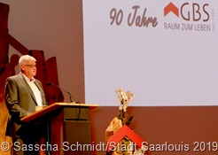 OB Peter Demmer hob die Unternehmenskultur der GBS hervor, in der Gemeinnützigkeit und soziale Verantwortung gelebt werden.
