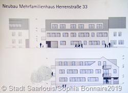 Der Plan des neuen Mehrfamilienhauses in der Herrenstraße