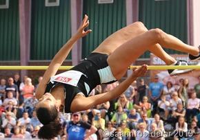 Marie Laurence Junbgfleisch belegte Rang zwei mit 1,94 Meter und erfüllte damit die Olympianorm