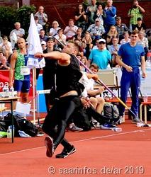Andreas Hofmann verbesserte seine Weltjahrsbestleistung auf 89,65 Meter