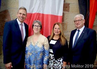 Französischer Nationalfeiertag 2019:  die Französische Generalkonsulin Catherine Robinet lud auf die Vaubaninsel nach Sarlouis ein.