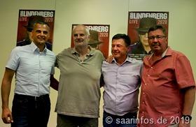 Fotoshooting nach der Pressekonferenz (vlnr) Klauspeter Brill, Roland Temme,Eberhard Schilling