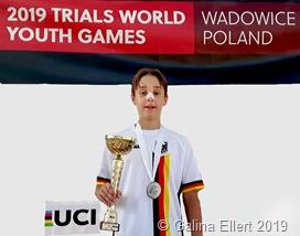 Victor Ellert, Vizeweltmeister im Rad Trial, Altersklasse U 13