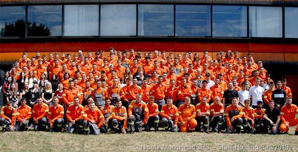 159 Auszubildende nahmen in der Saarländischen Stahlindustrie in diesem Jahr ihre Ausbildung bei der Saarstahl AG und der AG der Dillinger Hüttenwerke auf