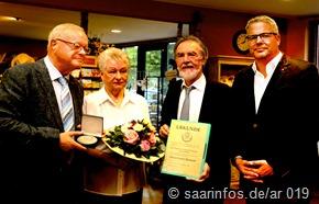 Unser Foto zeigt (vlnr) Hubert Schommer, Agnes Schommer, Lothar Christ und Jochen Kuttler
